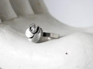 Karl Laine Finnfeelings Finland Finse Fins adjustable verstelbare ring 925 silver zilveren 1979 met bergkristal rock crystal modernist vintage scandinavian 70er seventies 4.JPG