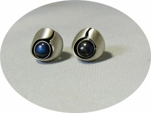 Karl Laine Finnfeelings Finland Finse Fins  925 silver zilveren 1979 met spectrolite stud earrings oorbellen   modernist vintage scandinavian designer 2.JPG