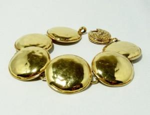 Vintage Yves Saint Laurent YSL designer bracelet goldtone 1.JPG