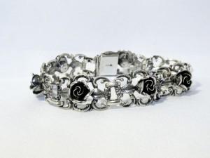Teka Theodor Klotz Germany Duitsland vintage designer old oude Hildesheimer roses rozen 925 sterling silver zilveren bracelet armband 5.JPG