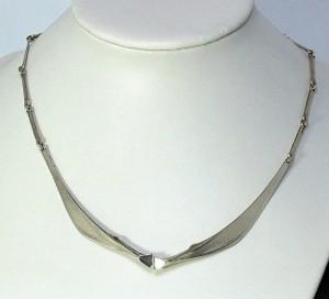 Lapponia silver Modernist Finland Bjorn Weckstrom 925 1981 necklace coliier d.JPG