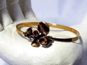 Hannu Ikonen Made  in Finland bronze brass bronzen armband bracelet Reindeermoss Rendiermos bekertjes mos vintage old designer Scandinavian 6.JPG