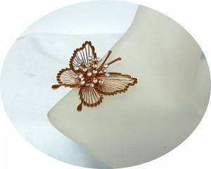 Vintage Monet America Amerika brooch broche vlinder butterfly strass gold plated 2.JPG