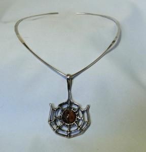 David Andersen Norway vintage 925 silver pendant necklace Troll series designer Scandinavian Noorwegen Modernist Top 1.JPG