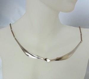 Lapponia Finland Bjorn Weckstrom 1985 vintage 925 zilveren silver elegant modernist designer Scandinavian necklace collier ketting 4.JPG