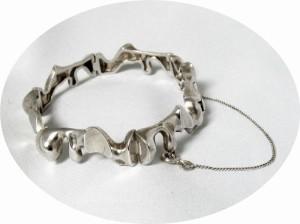Lapponia Finland Bjorn Weckstrom 1978 vintage 925 zilveren silver elegant modernist designer Scandinavian bracelet armband 6.JPG