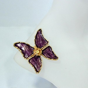 Yves Saint Laurent YSL vintage butterfly brooch vlinder broche designer costume jewelry haute couture high end 5.JPG