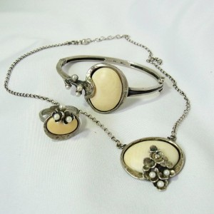 Perli Germany Duitsland Marga Meij 925 sterling silver zilveren set collier ketting armband ring necklace bracelet ring Modernist Vintage Designer sixties 1960s 60erjaren 1.JPG