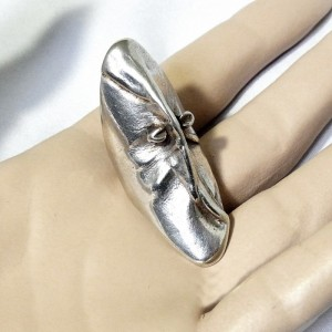 Mask of Gonda 1970 Finland Finnish Lapponia Bjorn Wecktrom 925 silver zilveren sterling ring modernist designer vintage Scandinavian Scandinavische 2.JPG