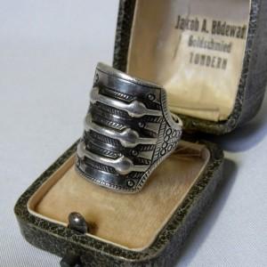 David Andersen Saga series ring collection Norway Noorwegen large grote 925 sterling silver zilveren adjustable verstelbare ring Modernist Viking Scandinavian designer 1.JPG