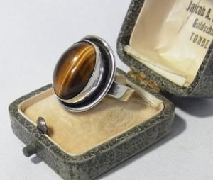 Georg Kramer Fischland Germany Duitsland 60er jaren 835 zilveren modernistische ring sixties silver modernist 1.JPG
