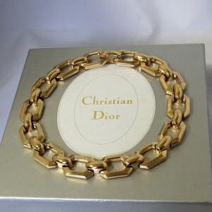 Christian Dior Germany Vintage designer necklace choker collier ketting gold plated gold tone original box originele doos costume jewelry 1980s 80er jaren 1.JPG