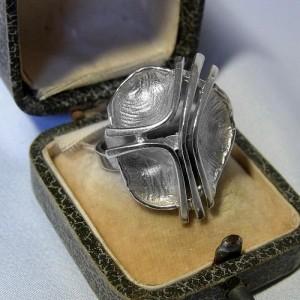 835 zilveren silver modernist modernistische vintage designer ring 60er 70er jaren 1960s 1970s 1.JPG