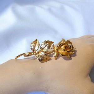 Nina Ricci vintage rose brooch rozen broche grote large Frankrijk France designer perfume 4.JPG