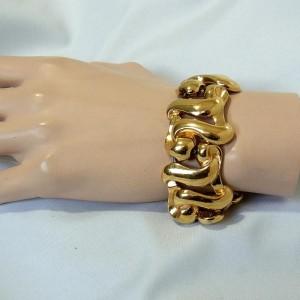 Bold Monet bracelet in original box Robuste armband in originele doos vintage modernist designer American Amerikaanse costume jewelry 2.JPG