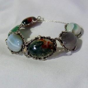 Schotste Scottish Scotland 1961 Edinburgh silver bracelet zilveren armband met natuurlijke halfedelstenen natural semi precoius stones designer modernist vintage 7.JPG