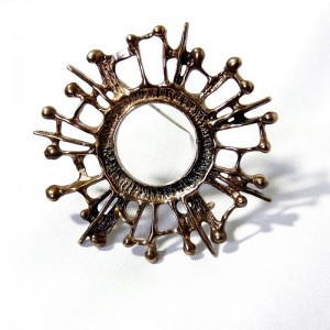 David Andersen Norway Noorwegen Noorse Scandinavian modernist designer bronze brons brooch broche 2.JPG