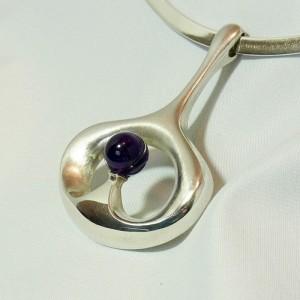 Franz Scheuerle FS silver modernist Germany pforzheim necklace pendatn c.JPG