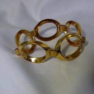 Friedrich Speidel Pforzheim Germany Duitsland modernistische modernist vintage designer large link wide grote schakel bracelet armband AM DBL Amerikaans double 3.JPG