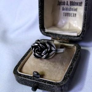 Teka Theodor Klotz 925 sterling silver zilveren verstelbare adjustable rose roos ring vintage designer Germany Pforzheim Duitsland model zonder boogjes 3.JPG