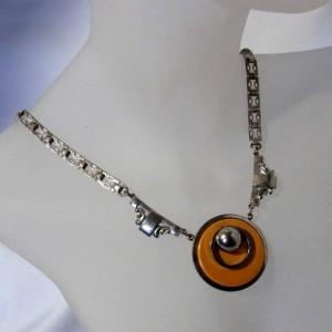 Art Deco Crome JacobBengel style stijl modernist necklace collier ketting vintage designer 1.JPG