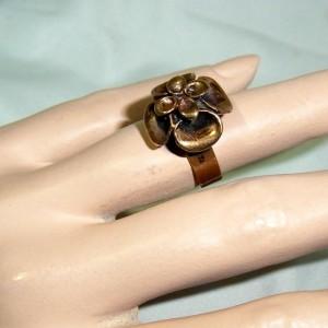 Hannu Ikonen Finland Finse Finnish ring adjustable verstelbare verstelbaar Reindeermoss Rendiermos bekertjes mos Scandinavian designer vintage 1960s 60er jaren 4.JPG