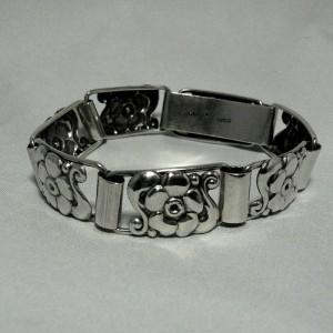Denemarken Deense Denmark 925 S silver sterling bracelet armband BO 7 jugendstil art nouveau skonvirke Scandinavian 1.JPG