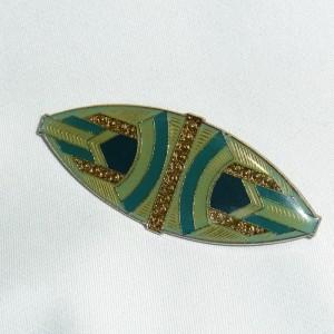 Pierre Bex style stijl vintage old Art Deco enamel emaille Geometric Geometrische broche brooch 1970s 70er jaren 2.JPG