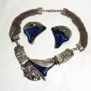Luigi Briglia vintage designer necklace set earrings necklace oorbellen collier ketting 1970s zeventiger jaren Italy Italian Italiaans Runway Couture 1.JPG