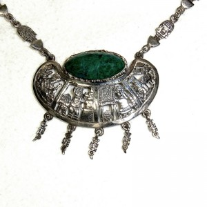Peru vintage old 925 sterling silver necklace ketting collier native amerika indianen desinger high quality 1.JPG