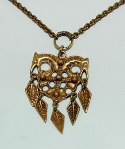 Kalevala Koru modernist vintage bronze brons necklace aaa.JPG