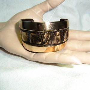 Harrie Lenferink Dutch Nederlandse designer artist large grote modernist bronze bronzen spang armband bracelet modernistische vintage 2.JPG