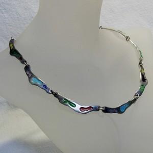 Juan Cambronero 925 Spanje Spain modernist designer necklace enamel emaille collier ketting vintage 2.JPG