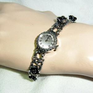 Teka Theodor Klotz Pforzheim Germany Duitsland 835 silver zilvern horloge watch rozen roses designer quality kwaliteit  hand winding mechanism hand opwindmechanisme 2.JPG