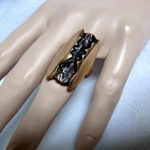 Harrie Harry Lenferink Dutch design Nederlands artist kunstenaar bronze bronzen ring verstelbaar adjustable modernist organic designer 1.JPG