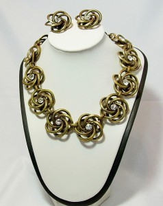 Vintage Ermani Bulatti Dutch designer costume necklace set earrings aa.JPG