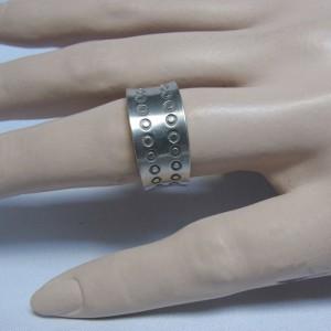 Jorgen Jensen Denmark Denemarken pewter tinnen adjustable verstelbare band ring modernist folkloric folklorische designer 4.JPG