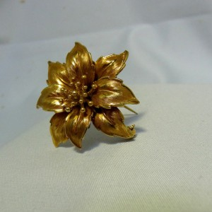 Andreas Daub Pforzheim Germany Duitsland vergulde Gilded gold plated flower bloem brooch broche designer vintage GAM 2.JPG