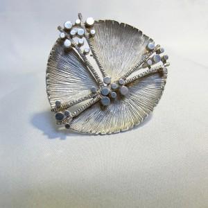 Modernist Modernistische 800 silver zilveren designer broche brooch vintage German Scandinavian 2.JPG