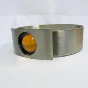 Logeskov Tin Denmark vintage pewter tinnen bracelet armband glas stone glass modenist scandinavian 3.JPG