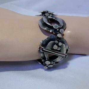 Teka Theodor Klotz Germany Duitsland 925 sterling silver zilveren armband bracelet designer modernist vintage brutalist 1960s 1970s 2.JPG