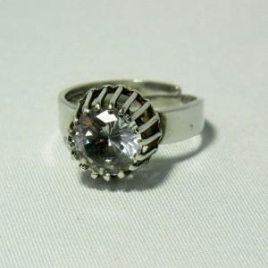 Bengt Hallberg Sweden zweden modernist sterling 925 silver ring rock crystal quartz e.JPG