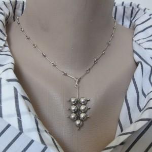 Dutch Nederlands zilveren silver pendant hanger necklace ketting collier 835 vintage modernist old oud 1.JPG