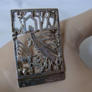 Jeroen Krabbe 1999 925 zilveren broche silver sterling brooch modernist Dutch artist Brutalist desinger 2.JPG