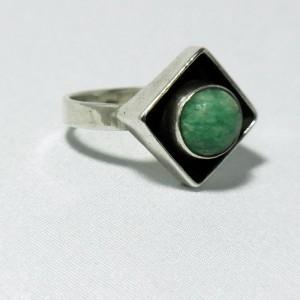 Georg Kramer Fischland 925 sterling silver turquoise stone modernist ring c.JPG