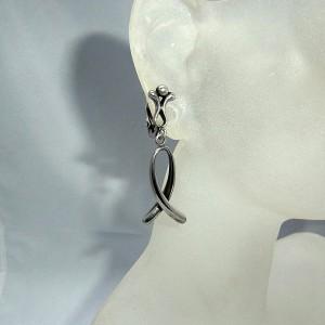835 zilveren clip oorbellen silver clip earrings marked HD+ meesterteken vintage modernist designer 1.JPG