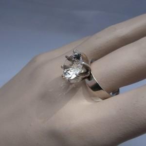 835 zilveren silver modernist modernistische vintage designer ring met bergkristal rock crystal 2.JPG