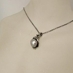 Perli Marga Mey Germany Duitsland 835 silver zilveren pendant hanger grey pearls grijze parels designer vintage modernist 4.JPG