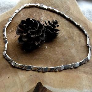 Riitta Hakala Akt Finland sterling 925 silver zilveren modernist necklace collier ketting designer vintage 3a.JPG