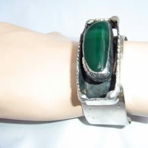 AD Design Erik Dennung Jens Andersen Denmark Denemarken Pewter Modernist Brutalist vintage designer Scandinavian bangle bracelet armband spang 3.JPG